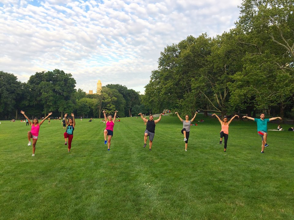 Workout in Central Park
